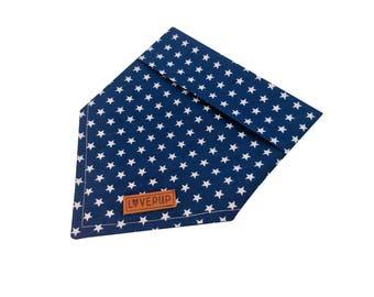 Tie Up Dog Bandana - Navy Star