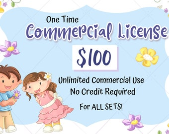 Extended Commercial License (One Time For ALL SETS) for Keepin' It Kawaii Designs