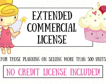 Extended Commercial License (Single Clipart/Stamp Set) for Keepin' It Kawaii Designs