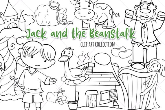 Premium Vector | Jack and the beanstalk character series