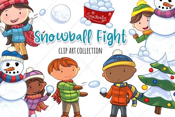 Children Having A Good Time In Winter Landscape (V Illustration 33475994 -  Megapixl