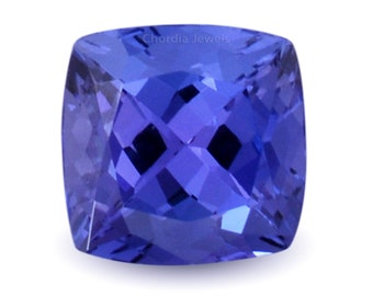 Tanzanite Gemstone,Natural Tanzanite Gemstone Tanzanite,Loose Tanzanite,Faceted Tanzanite,Blue Tanzanite cushion,Jewelry,8X8X5MM,3.30 cts