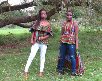 African Print Ankara Off Shoulder Top