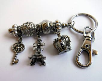 Paris and Royalty Keychain