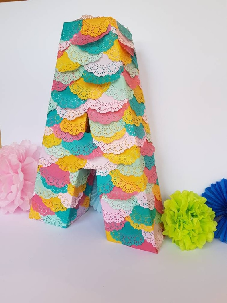 Personalised Letter or Number Pinata : very popular wedding pinata,  birthday party piñata in your choice of letter or number