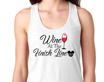 Wine At The Finish Line - Disney Half Marathon - Food and Wine Festival - Epcot Shirt - Run Disney - Disney Marathon - Women Disney Shirt