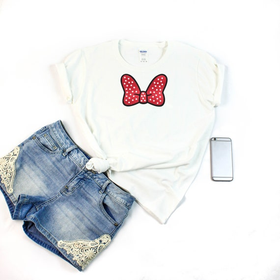 1d9db1f9216a Minnie Mouse T-Shirt Minnie Mouse noeud noeud chemise   Etsy