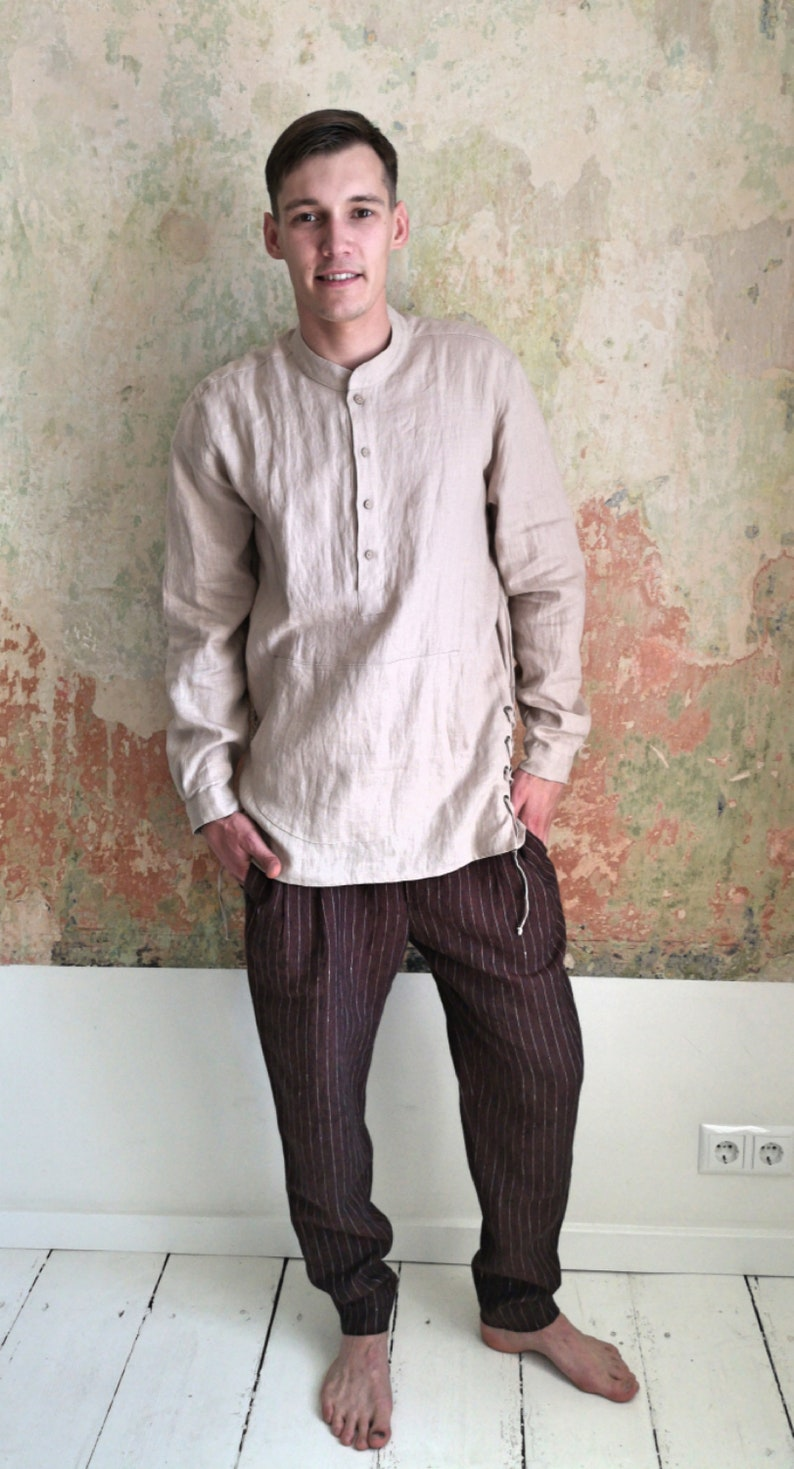 046872d2bd52 Men s linen shirts  Linen blouse  Men s linen top