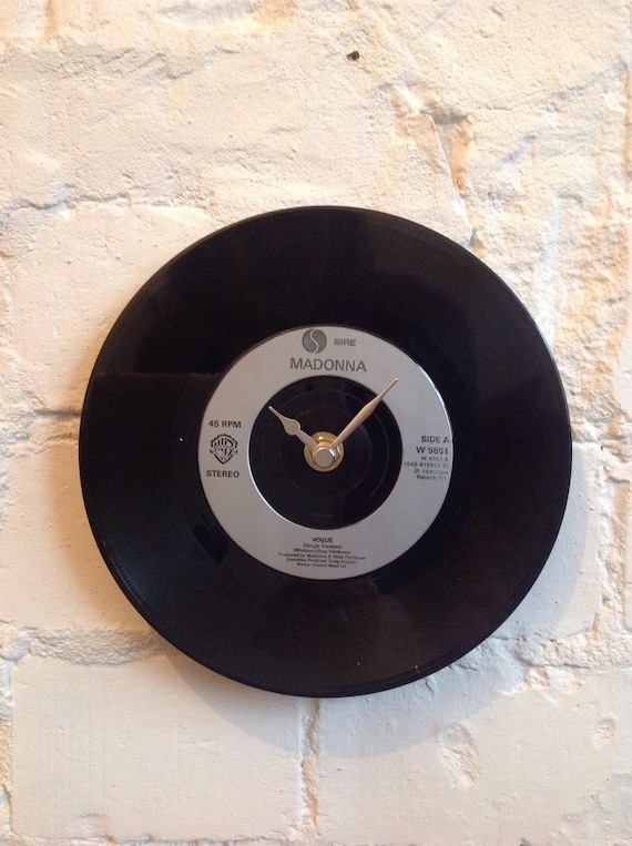 Madonna Vogue Vinyl Record Clock 50th Gift Her For