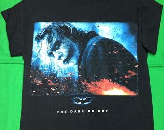 b717e85e6 The Dark Knight Movie Tee The Joker Men's Women's Unisex Short Sleeve T- Shirt 2008 Heath Ledger Size Small Top Batman Movies Shirt