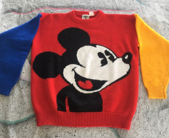 Vintage Mickey Mouse wool sweater Womens Mickey &