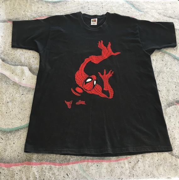 Vintage Spider-Man Shirt Size XL Color Black