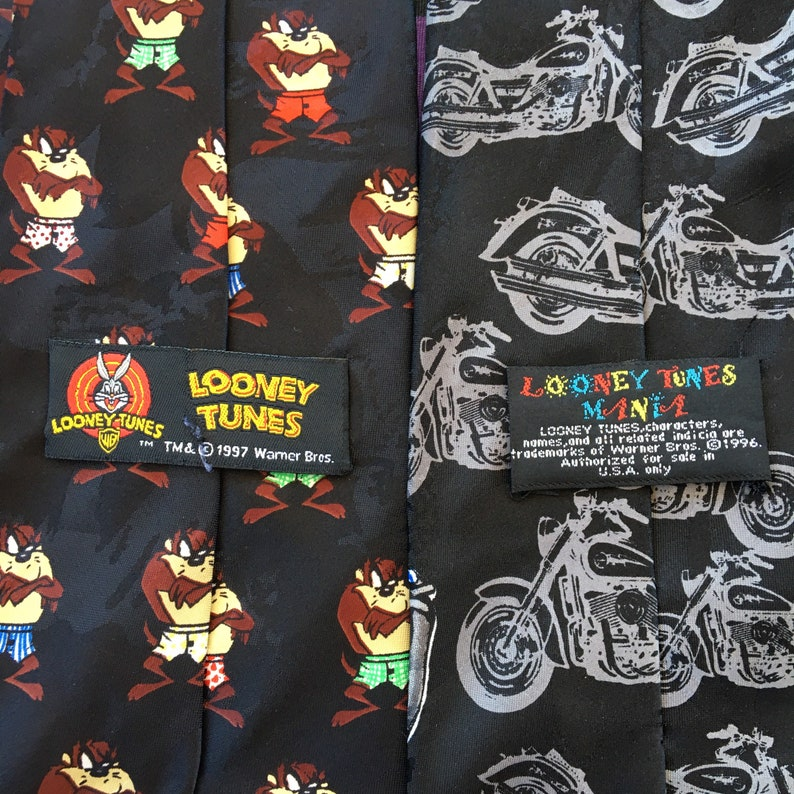 Vintage Looney Tunes Taz Neck Ties Set of 2 Warner Bros.