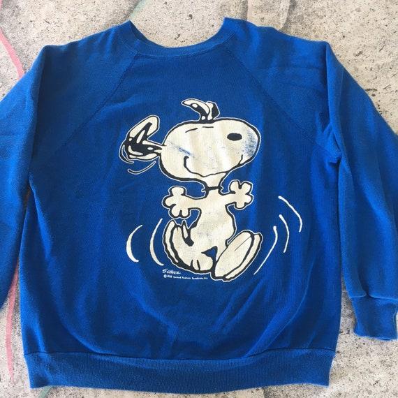 Vintage Snoopy sweatshirt size large 1980s peanuts