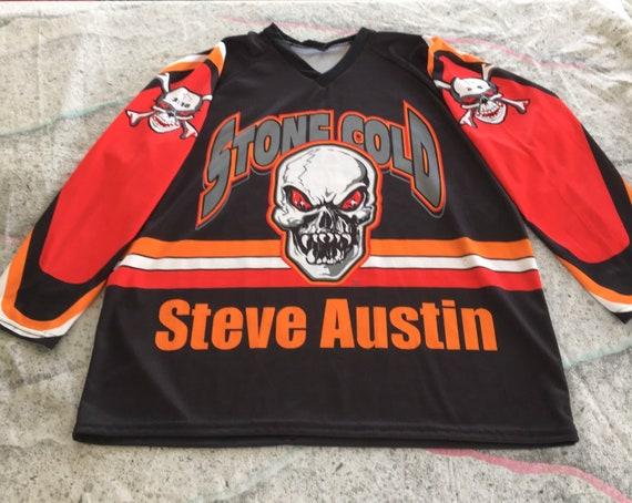 Vintage Stone Cold Steve Austin Jersey WWF Hockey/