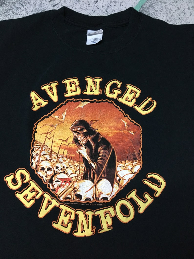 5c745aadc Avenged Sevenfold Shirt Size Small Band Tee Unisex Short