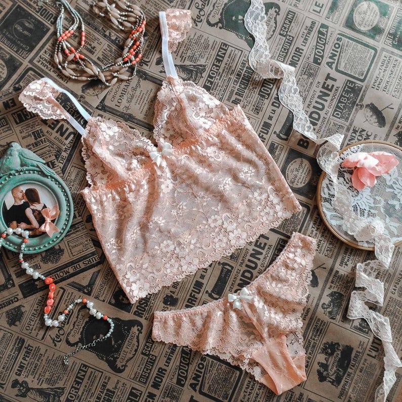 ed42842ef2 SOPHIA Longline Bralette With Ruffled Straps And Panties