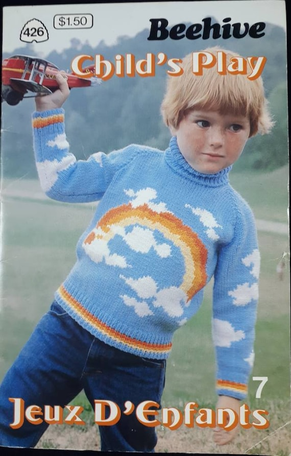 Beehive Knitting Pattern Childs Play Vintage Knitting Etsy