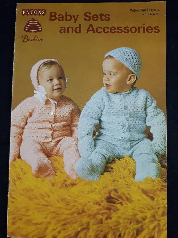 Beehive Knitting And Crocheting Patterns Baby Sets Knit And Etsy