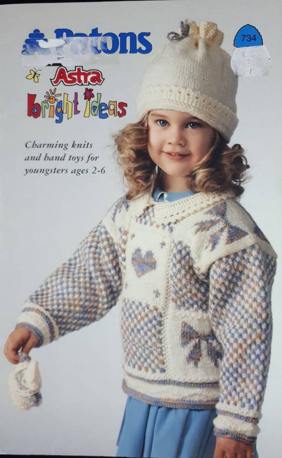 Patons Knitting Pattern For Kids Astra Bright Ideas Knitting Etsy