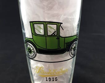 Vintage Automobile Drinking Glass