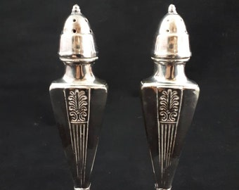 Silver Salt and Pepper Shakers ~ Vintage Salt and Pepper Set ~ Viking E P Lead