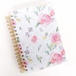 Floral Spiral Bound Blank Notebook