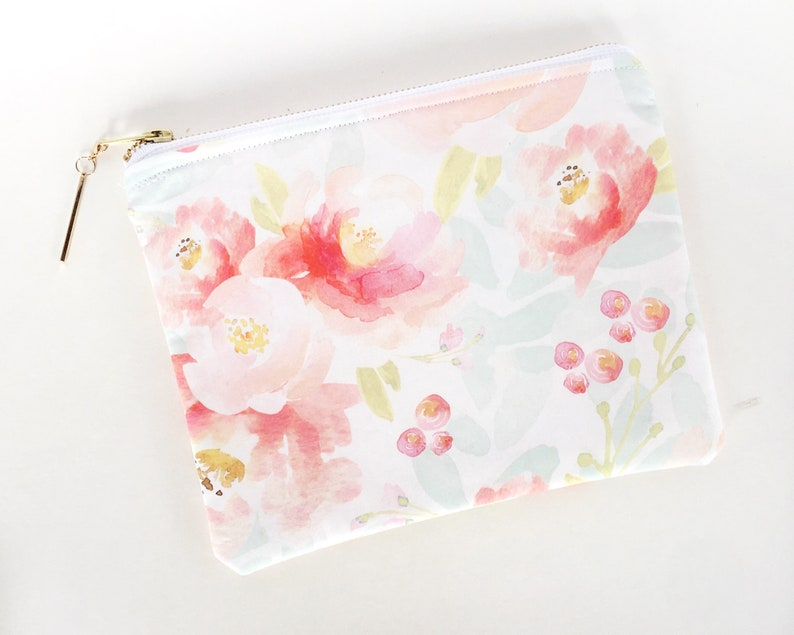 Large Makeup Bag Cute Zipper Pouch Gift for Sister Friend image 0