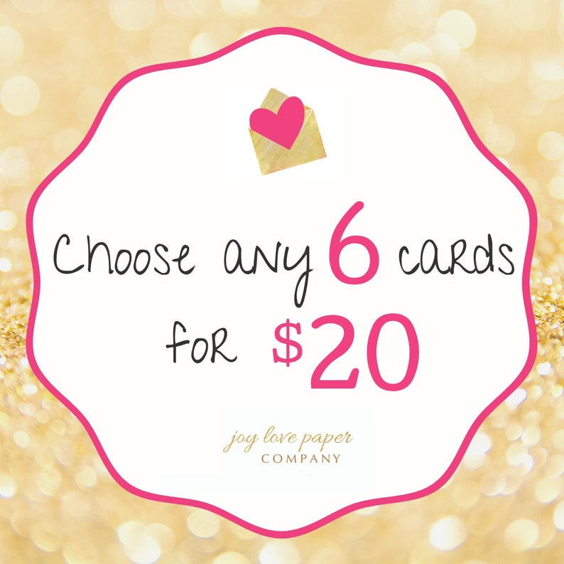 Choose any 6 cards image 0