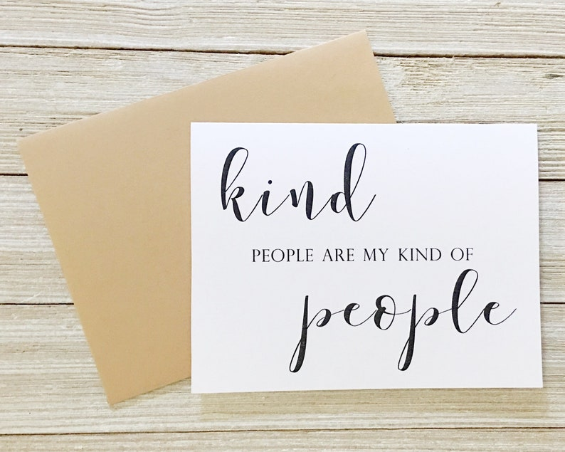 Kind People Are My Kind of People Card  Birthday Card  Just image 0