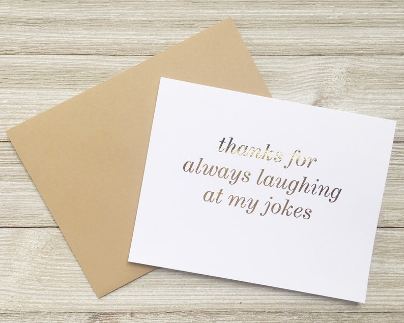 Gold Foil Funny Birthday Card for Boyfriend Girlfriend Wife image 0