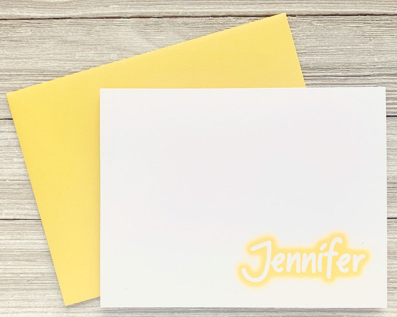 Nineties Greeting Card Grafitti Glow Yellow Personalized image 0