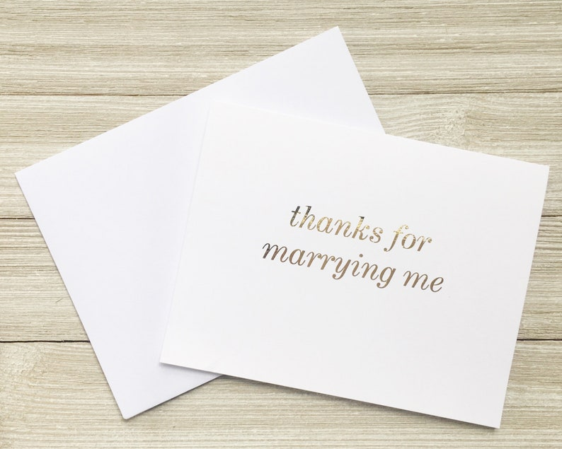 Gold Foil Card  Anniversary Greeting Card  Funny Spouse image 0