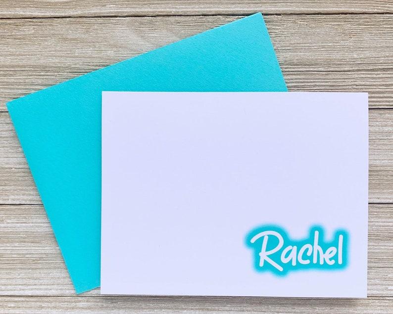 Nineties Greeting Card Grafitti Glow Personalized Notecard image 0