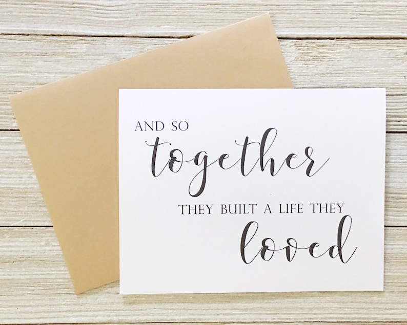 And So Together They Built A Life They Loved Wedding Card  image 0