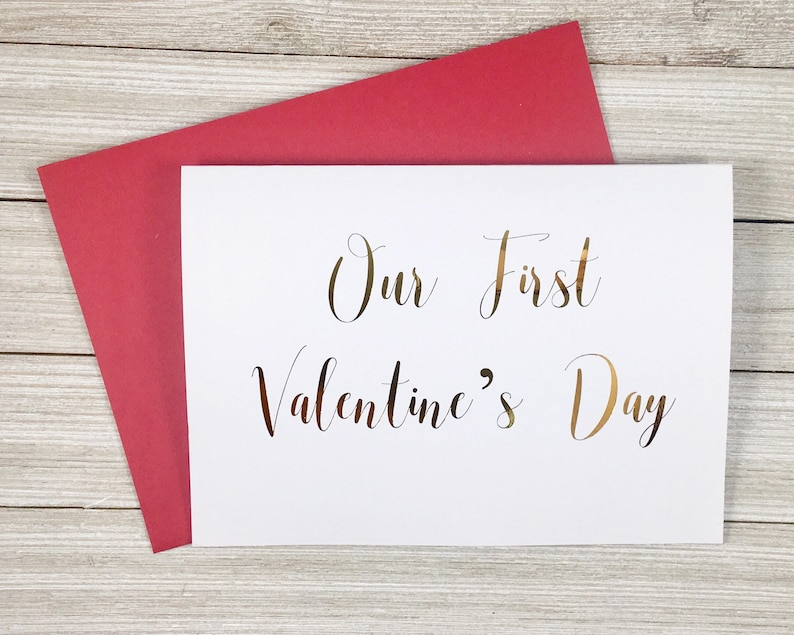 Our First Valentines Day Card  Card for Wife Husband image 0
