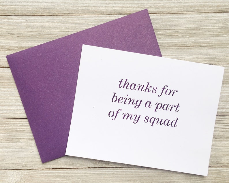 Purple Foil Note Card for Best Friends  Thank You for Being a image 0