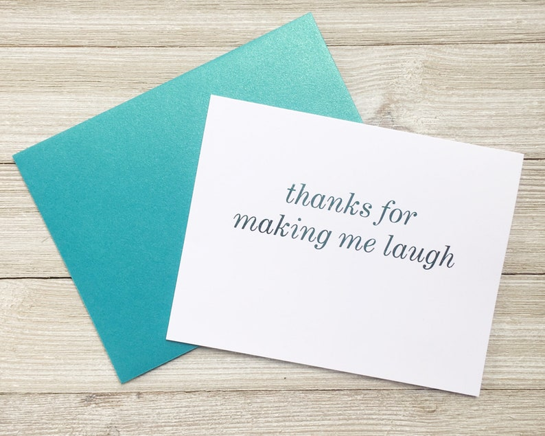 Thanks for Making Me Laugh Fun Greeting Card for Friend image 0