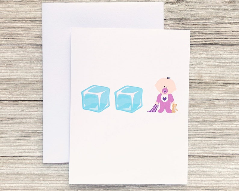 Nineties Greeting Card Ice Ice Baby Funny Card for Him or image 0