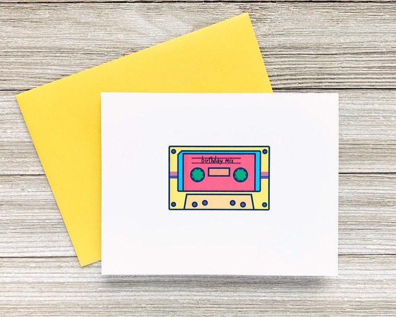 Birthday Mix Birthday Card Nineties Greeting Card Mixtape image 0