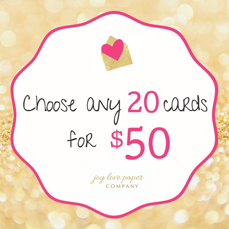 Choose any 20 cards image 0