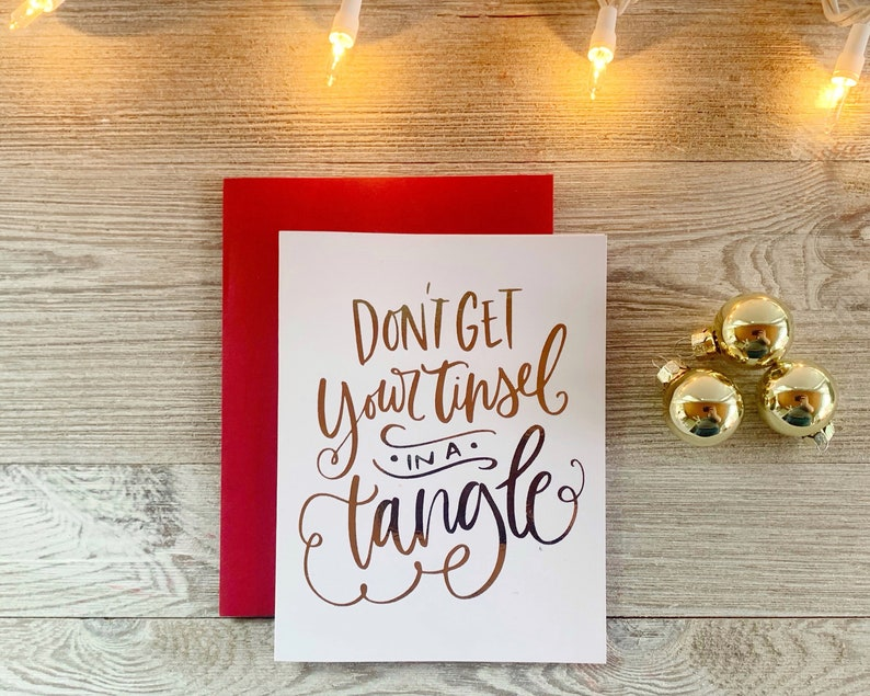 Dont Get Your Tinsel in a Tangle  Real Foil Cute Christmas image 0