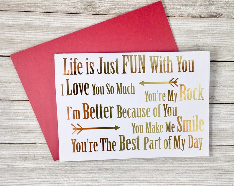 Gold Foil Valentines Day Card image 0