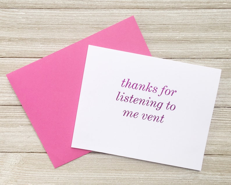 Pink Foil Note Card for Friend or Coworker  Thanks for image 0