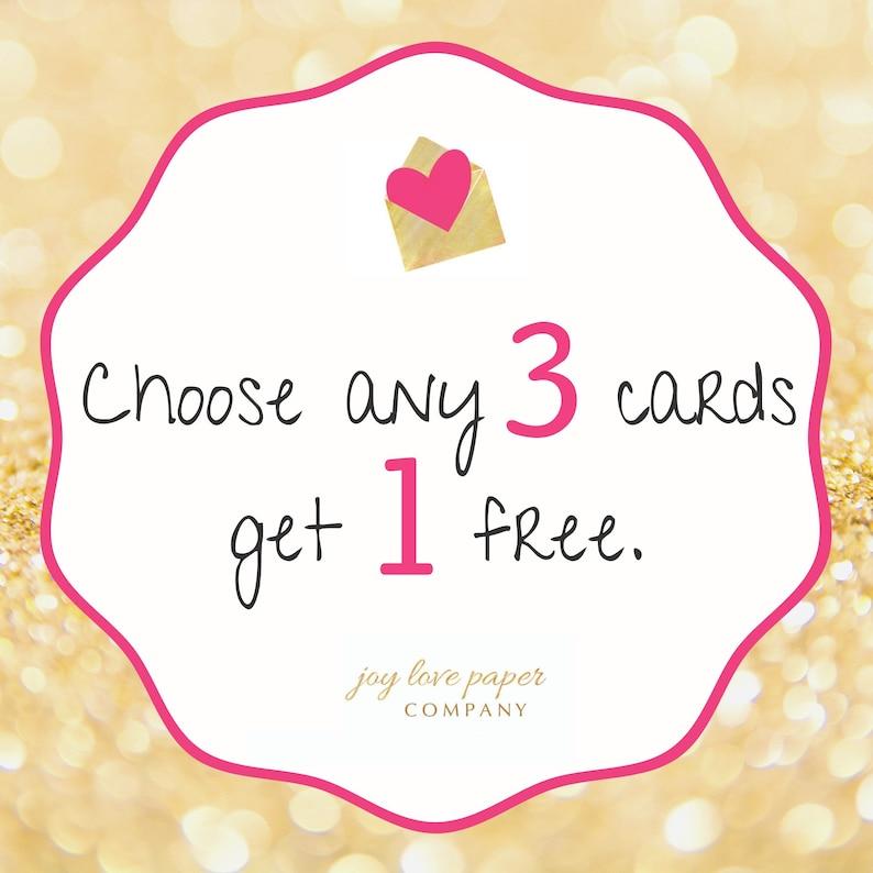 Choose 3 cards get 1 free image 0