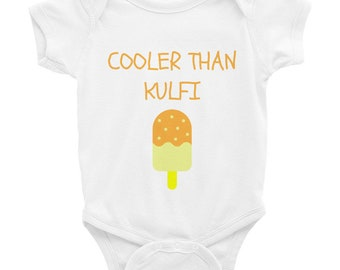 Cooler Than Kulfi Infant Bodysuit, bodysuit, babies, children, infant, INDIAN, DESI, BABY onesie, desi baby clothes, desi onesie, bollywood