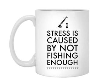 Fishing mug - 11oz Fish Coffee Cup - Fisherman Mug Gift - Fisher Coffee Mug - Funny Coffee Mug