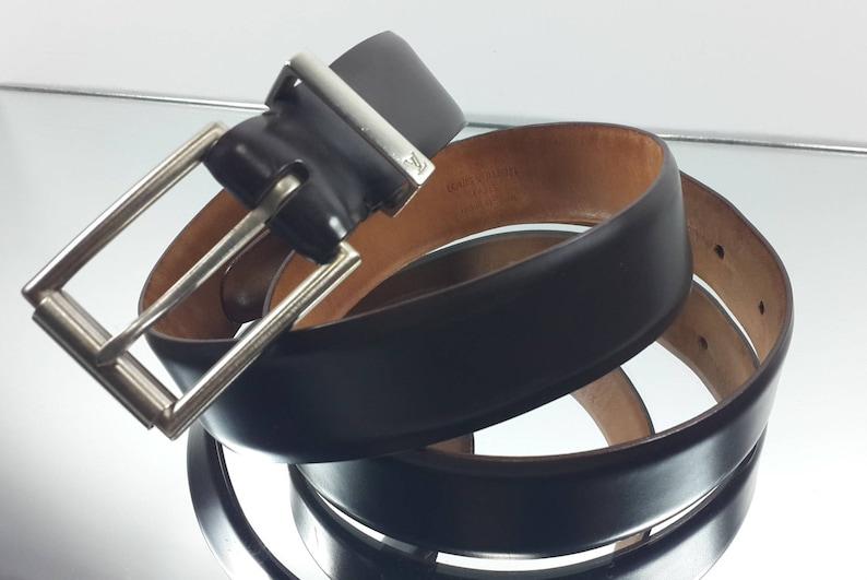 a53680e23 Authentic Louis Vuitton LV Mens Belt Calf Leather Cafe | Etsy