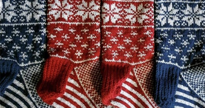 Color only Personalized Hand-Knit Christmas Stocking
