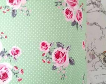 Judy Green Floral Lampshade